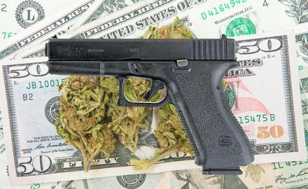 Marijuana and Dollar notes