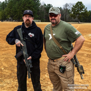 Vince Buckles (Left) attends a course with Larry Vickers (Right).