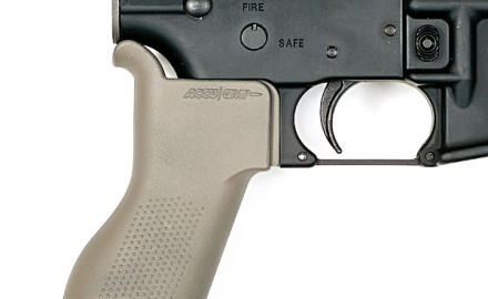 Made from Dupont Zytel, the Accu-Grip Grip fits all MILSPEC and factory lowers allowing the shooter