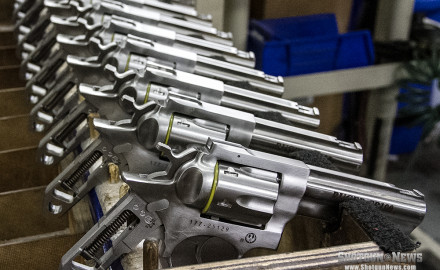 Brand new Ruger revolvers enter final assembly in Newport, NH.