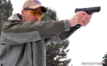 Tarr is a fan of full-size 9mms and found the Canik TP9SA to be reliable and pleasing to the eye.