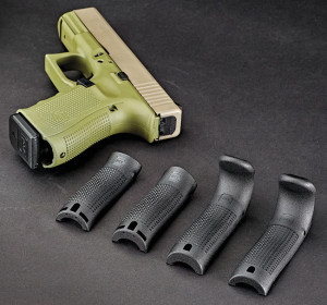 Gen 4 Glocks are supplied with four interchangeable backstraps that allow them to fit almost any hand. They are easily installed with a supplied tool.