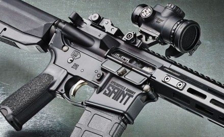 The awkwardly named Springfield Saint with Free-Float Handguard is the next step up from the