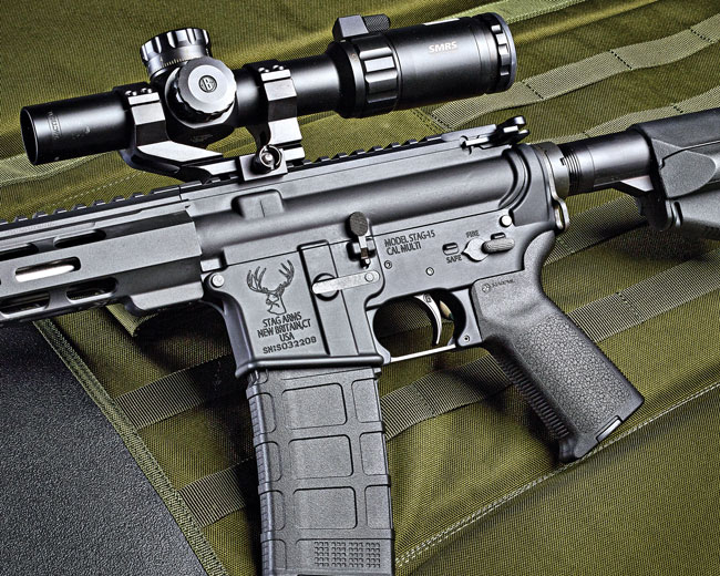 MagPul is dominating the OEM AR accessory market these days, and here is the source of the 30-round PMag magazine, pistol grip and the ACS collapsible buttstock.
