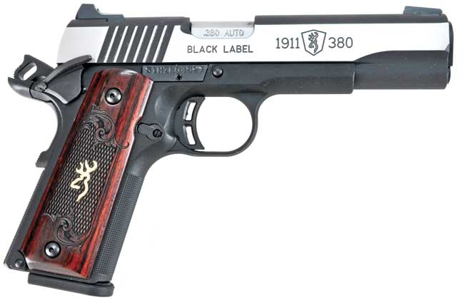 From a distance, or without anything to  show scale, the Browning Black Label  looks like a standard .45 ACP 1911, as  it keeps the same proportions, controls,  and functionality.