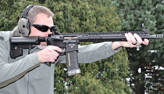 When was the last time you saw anyone shooting an AR-15 using iron sights? Some people think They might be obsolete, but Tarr thinks every AR should have them.