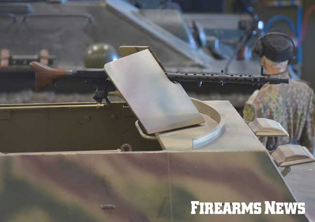 The Sd.Kfz 251 featured armor plating for protection and could mount two MG34 (seen here) or MG42 machine guns.