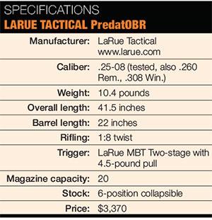 LARUE-TACTICAL-PredatOBR-Specs