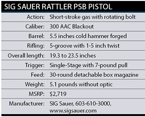 Sig-Saur-Rattler-Specs