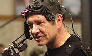 Here is well-known actor Kevin Spacey in the performance capture gear Activision used to digitally recreate his performance for Call of Duty: Advanced Warfare.
