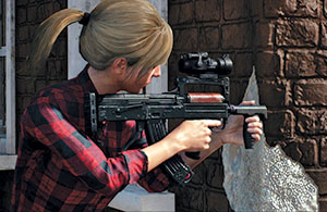The PUBG developers really like  Russian weapons, and added recently to the game is the Groza, a bullpup chambered in 7.62x39mm. Here it sports an Aimpoint-type red dot.