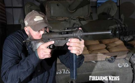 The Caliber .45 M3A1 Submachine Gun is a classic American design adopted in Dec. 1944 and known as the Grease Gun.