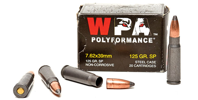 Wolf's 125-grain 7.62x39mm soft-point is an excellent load for personal protection and hunting medium game. It's not all that much more expensive than FMJ.