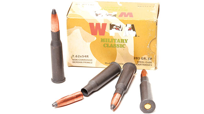An excellent option for hunting medium and large game is Wolf's 7.62x54mmR 203-grain SP. It provides both reliable expansion and deep penetration.
