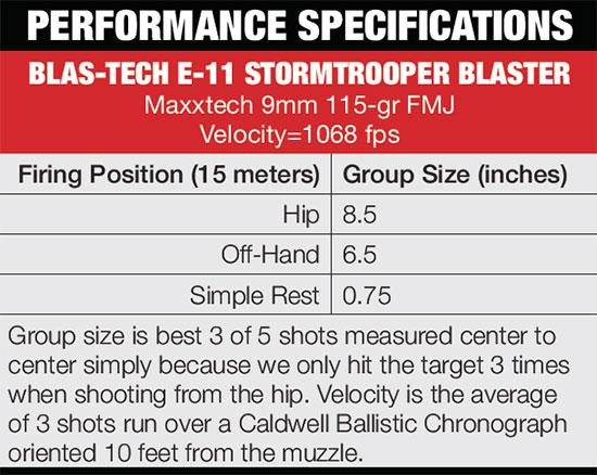 Blaster-specs