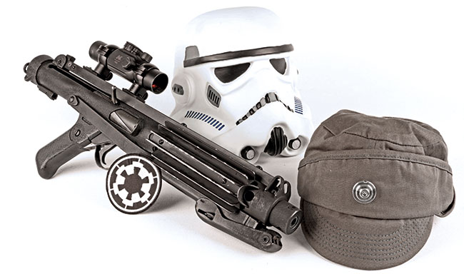 The E-11 Stormtrooper Blaster is an iconic weapon that  has forever been associated with the Galactic Empire.