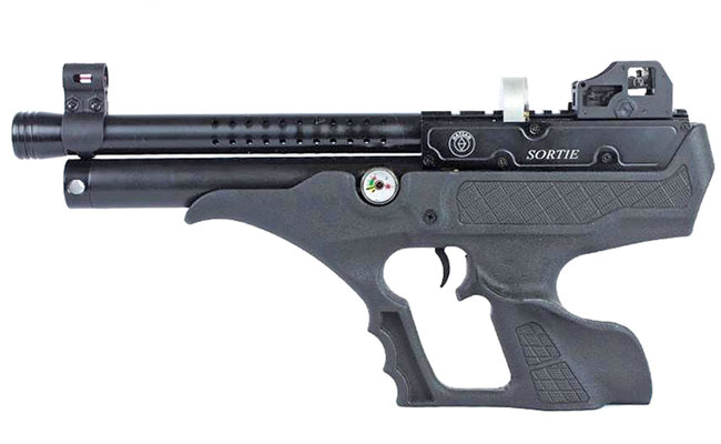 Tom Gaylord takes a personal look and reviews the Hatsan Sortie, a semiauto air pistol used for hunting.