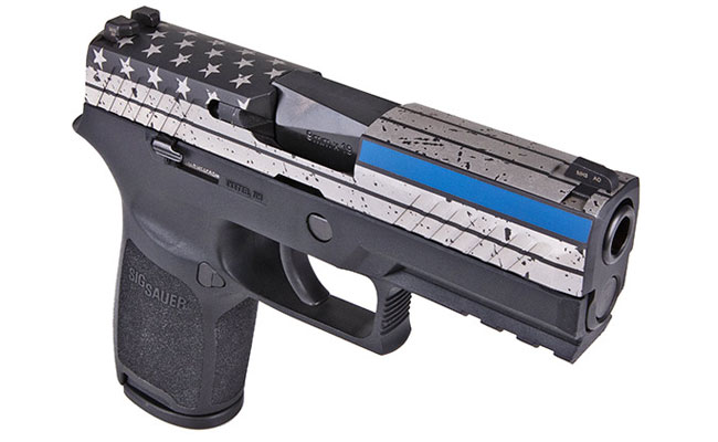 SIG SAUER Introduces Thin Blue Line P320 Pistol to Law Enforcement