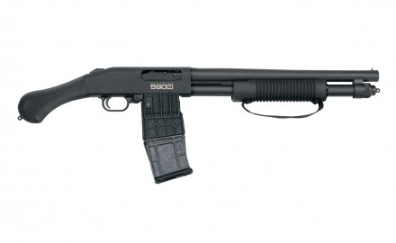 Mossberg introduces the 590M Shockwave 12-gauge firearm with 15-inch barrel, pistol grip and the world's first double-stack, 10-round shotgun magazine.