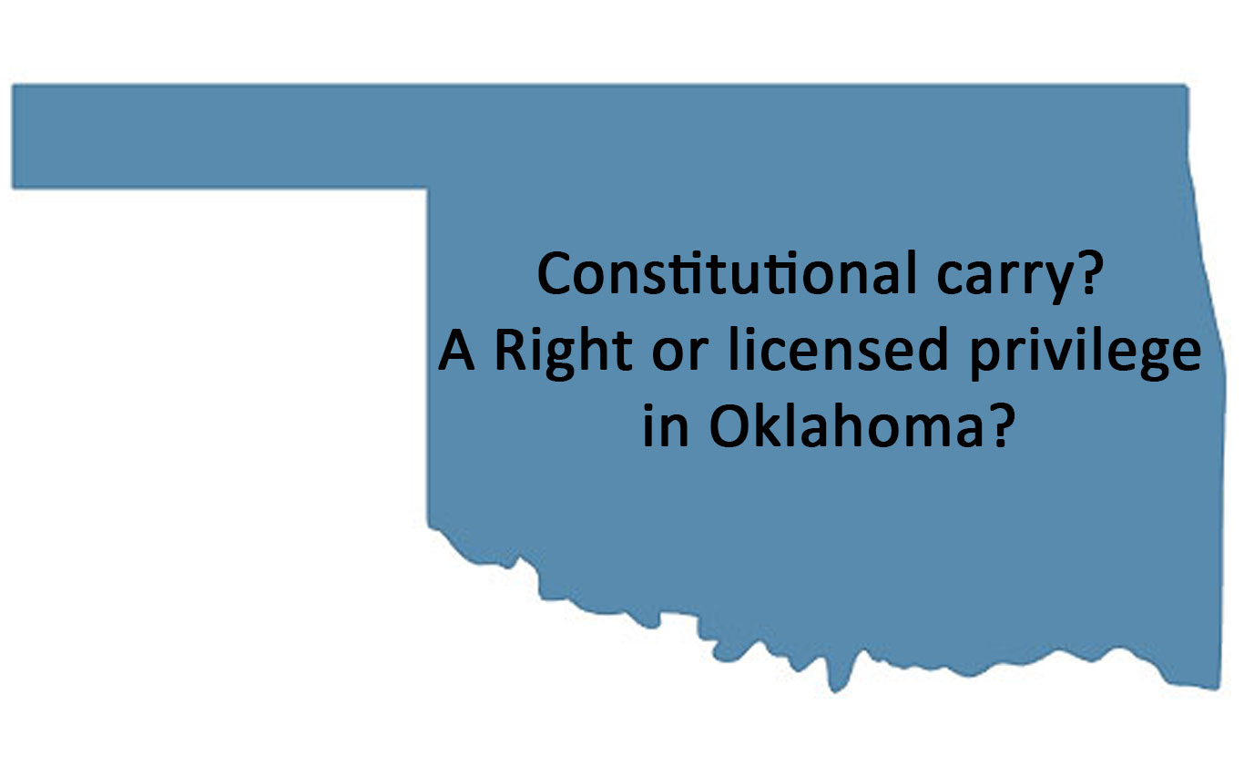 Oklahoma Rifle Association Opposed Constitutional Carry Bill Vetoed by Governor