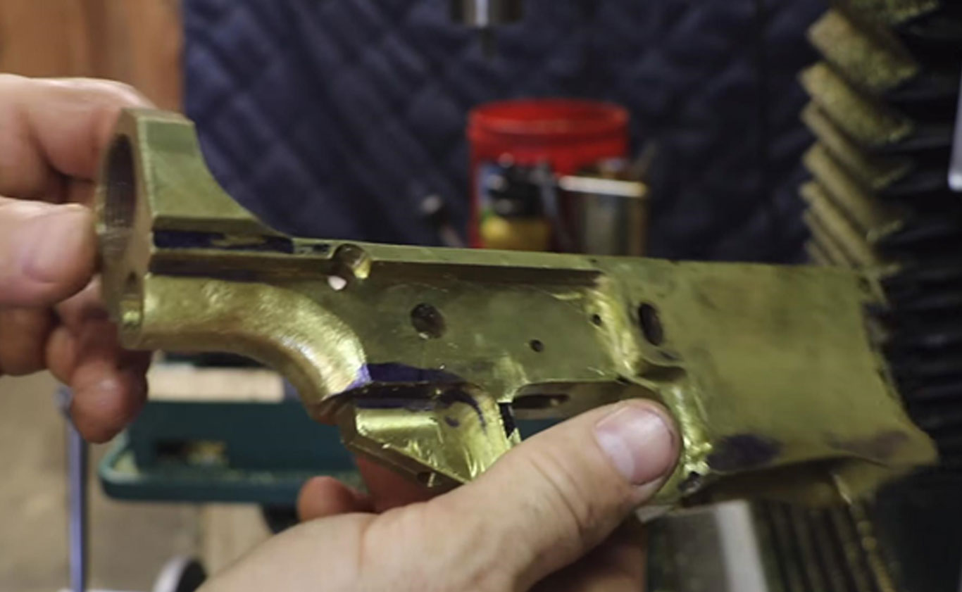 YouTuber Builds AR-10 Receiver from Used Brass Cartridge Cases