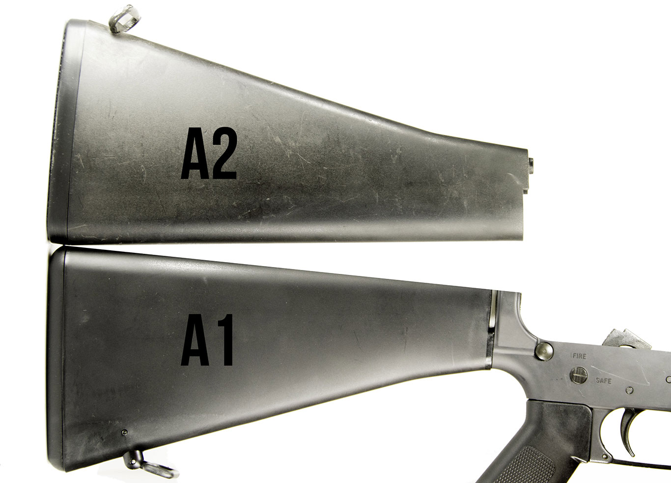 The A1-Length Retro Stock cuts the LOP by nearly two inches on a fixed-stock AR-15.