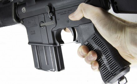 Strange in appearance, the Unique-Grip forms to the shooter's hand.