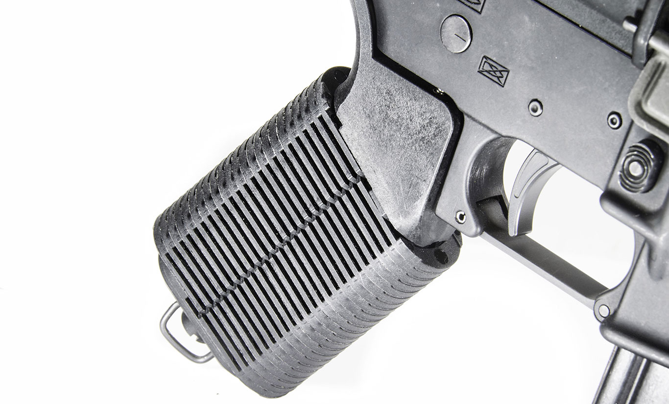 Here is the grip in the fully open, stock configuration.