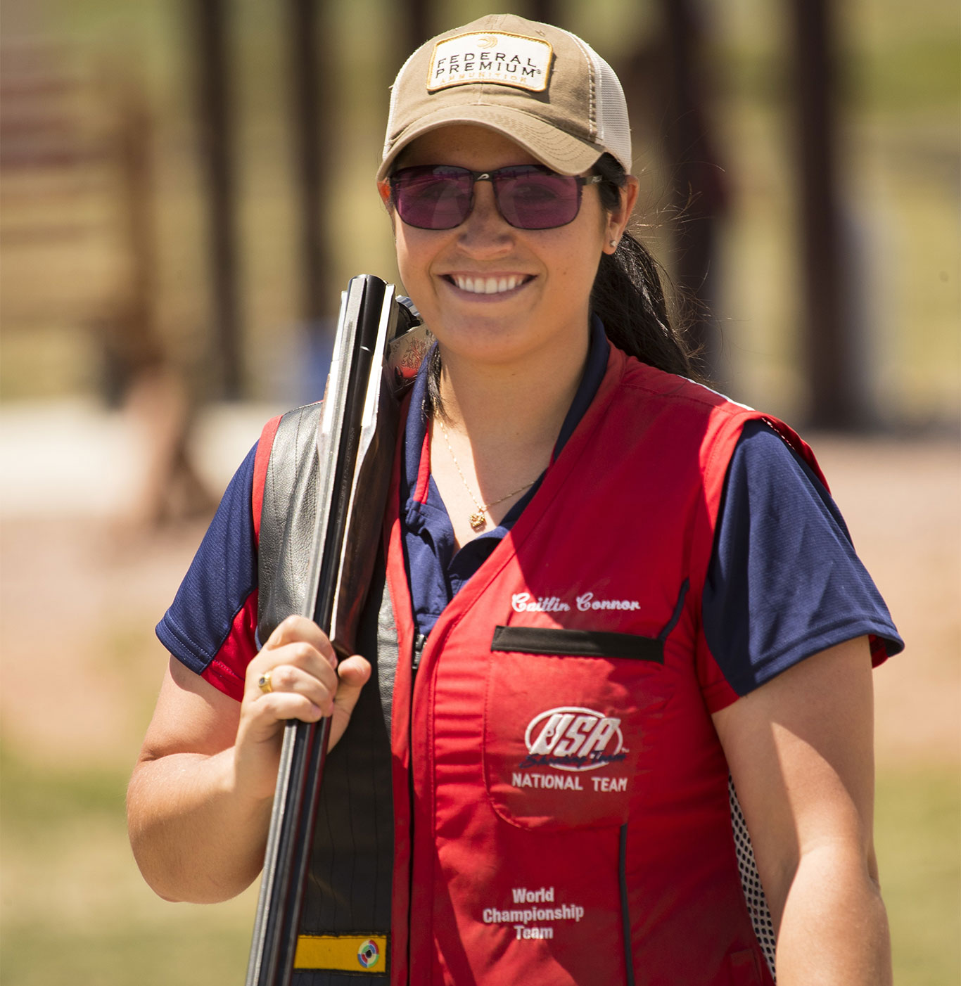 Federal Premium Ammunition sponsored shooter and world champion, Caitlin Connor.