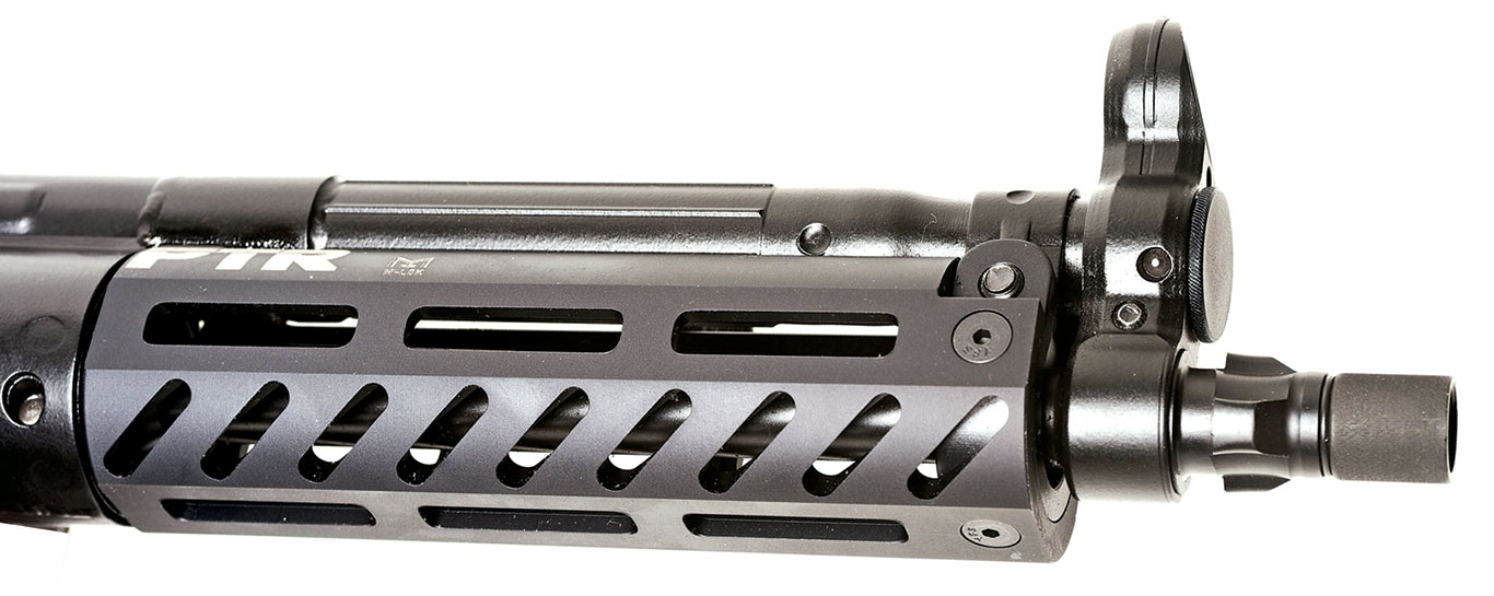 The 9CT features an 8.8-inch nitride-treated barrel and an MLOK handguard for easy mounting of accessories.