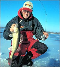 There's just something about catching a big walleye through the ice. Your chances will be greatly enhanced by ice-fishing on these lakes this season.