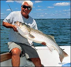 Hotspots for Bay State July Stripers