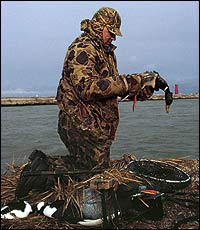 From the Illinois line on up to the border with Michigan's Upper Peninsula, you can enjoy hunting for ducks on the rivers that flow into Lake Michigan and its bays.