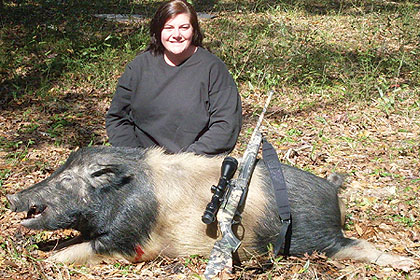 The Spencer family has owned this Central Florida ranch for four generations. Each year they open it to women-only hog hunts to introduce the ladies to the sport! (December 2009)