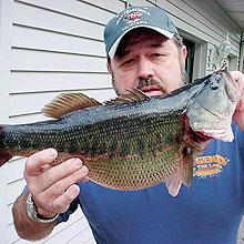 wayne king bass fishing record