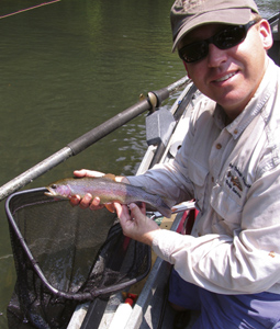 The tailwaters of the Chattahoochee River in January arguably provide the year's best trout fishing in the state. Join the author as she explores the options it offers.(January 2008).