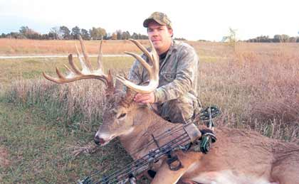 Putting his buck-grunting and doe-bleating talents to good use last fall, Jon Alen attracted a monster whitetail that turned out to be the state's No. 3 bow buck! (September 2008)