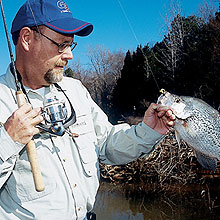 Webster, Sullivan and Waveland lakes offer big papermouth action on not-so-big waters. Here's the latest! (February 2006)