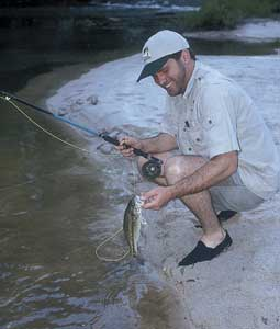 Five creeks, all within a short drive of each other, all loaded with spotted bass: a pretty good deal! (June 2007)