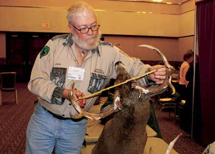 John Ohmer has measured more racks in the past 17 years than most hunters see in a lifetime. (August 2008)