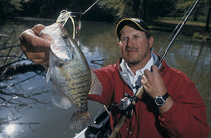 Until the walleye opener, crappies are king in Minnesota. You can catch your share of filets on these waters. (March 2006)