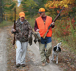 With Minnesota's grouse population nearing its cyclical peak, there's no better time than now to bag a three-species grand slam! (September 2009)