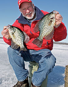 Those slab-sized crappies that evaded your hook all summer long are vulnerable right now under the ice. Looking for a little revenge? (December 2009)