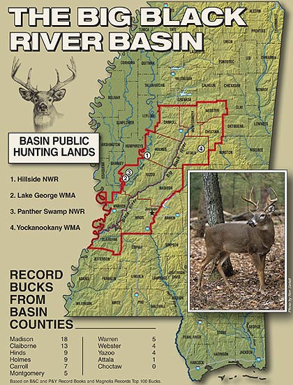 This river valley in the southwest quadrant of the state has a long history of giving up trophy whitetails. Join the author in exploring the facts behind this legacy.