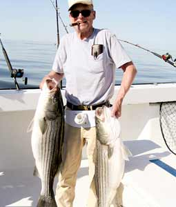Here's where to find some great public-access fishing for big spring stripers in New York's rivers and saltwater bays. (May 2008)