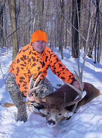 When Santo Fallo of Niles set his sights on a big 10-point buck, he had no idea he was about to down one of the biggest whitetail bucks ever taken by a hunter. (July 2006)