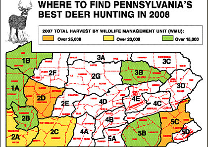Pennsylvania's 2008 Deer Outlook -- Part 1: Where To Find Our Best Deer Hunting