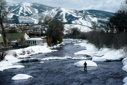 If you're not here to ski, look for slow water in the Yampa tailwater for active winter trout to nearly 30 inches.