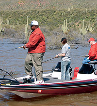 3 bass hotspots for 39 06 for Fishing in williams az