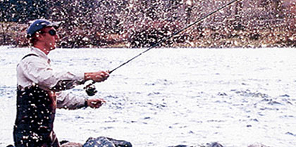 Flyfishermen gather along the banks of the Arkansas River from April right on through Mother's Day, taking advantage of one of Colorado's most prolific bug hatches. (June 2006)